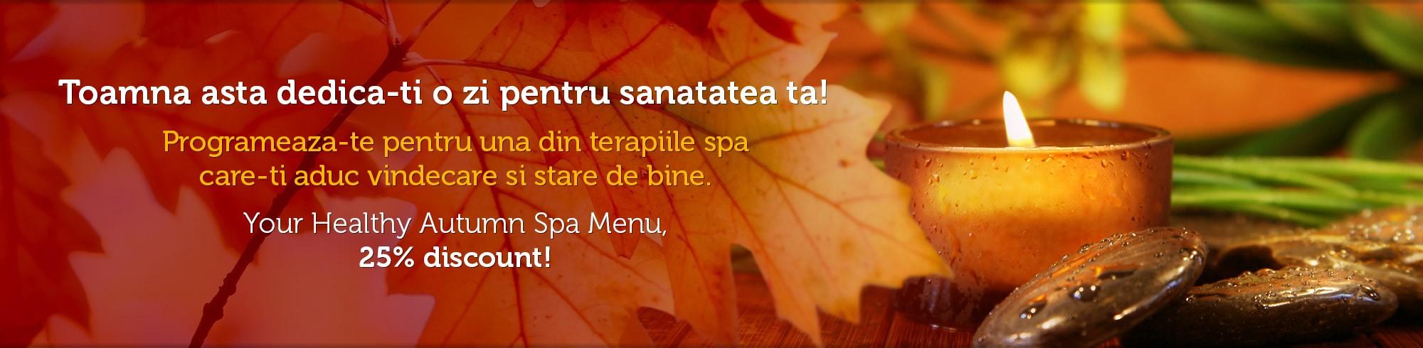 Healing Autumn Spa Menu